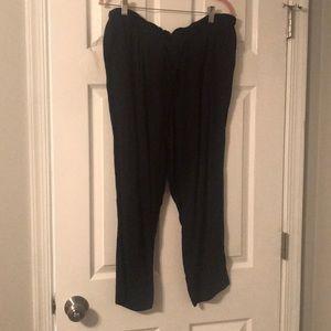 black loose work pant